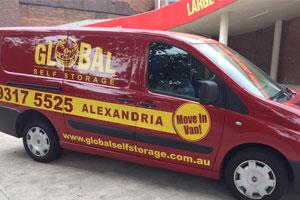 Global Self Storage Free Move In Van